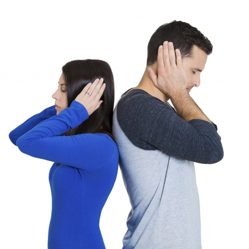Couple struggling to communicate
